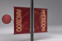 MVP Visuals 18oz Vinyl Light Pole Banner
