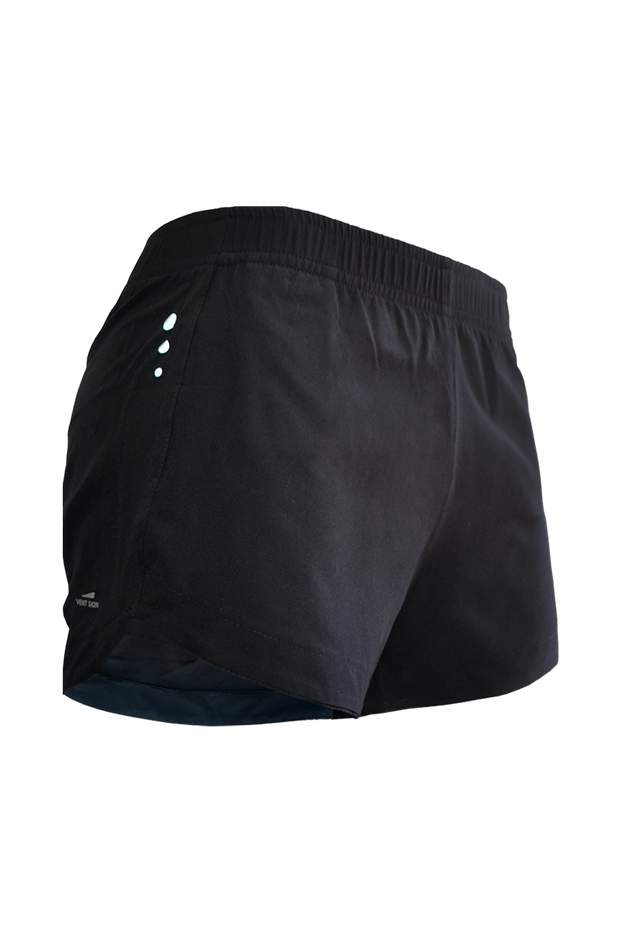 Short Basic Slim Drava negro
