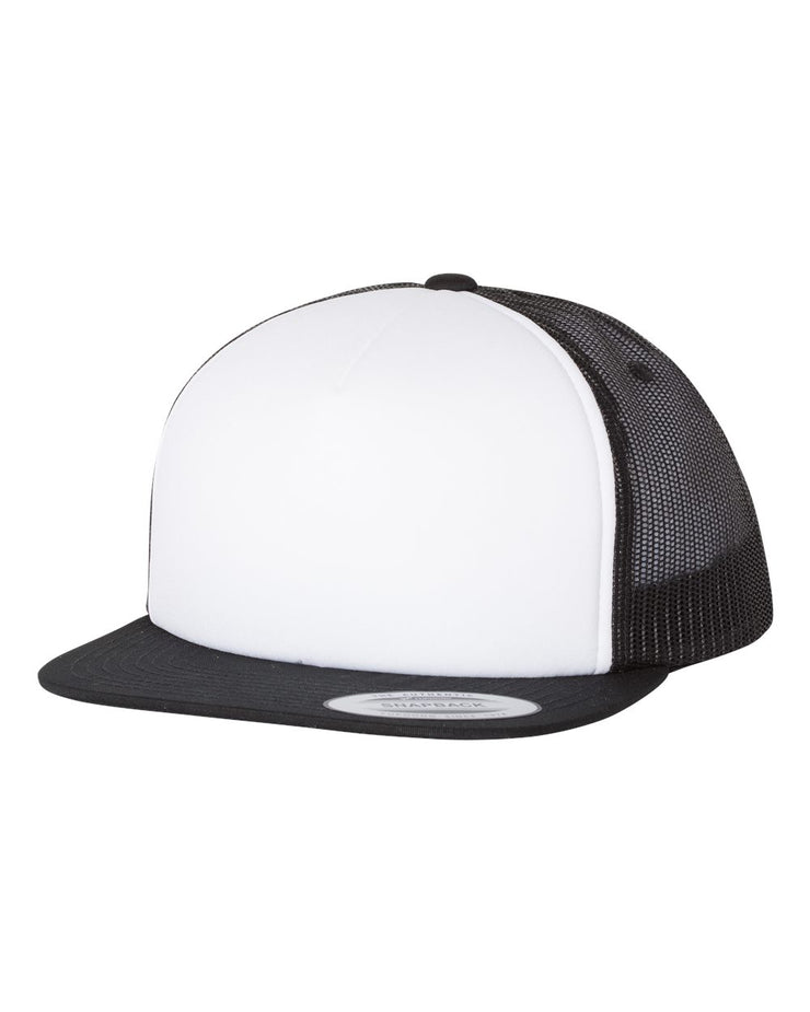 Image of a black and white trucker cap from Str8 Sports