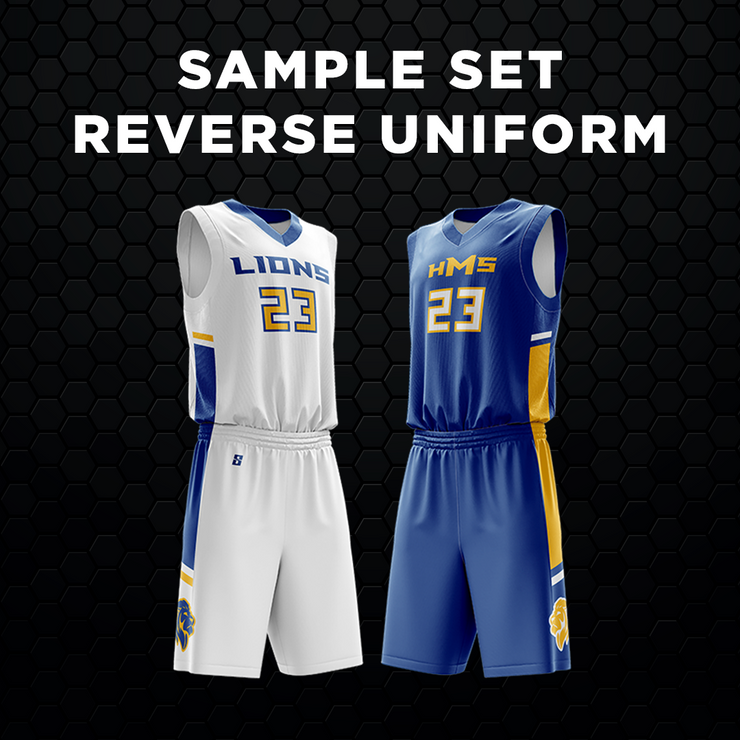 Sample Set-Reverse Basketball Uniform