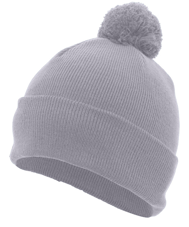 KNIT FOLD OVER POM-POM BEANIE