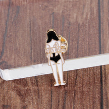 Load image into Gallery viewer, Creative skull dolls totem girl cartoon brooch - topjewelry4u.com