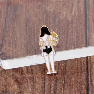 Creative skull dolls totem girl cartoon brooch - topjewelry4u.com