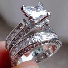 Load image into Gallery viewer, A pair of wedding rings - topjewelry4u.com