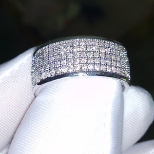 Wish hot new European and American fashion ring full circle set of zircon ring jewelry - topjewelry4u.com