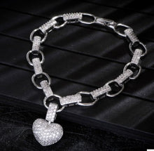 Load image into Gallery viewer, Micro inlaid heart necklace bracelet set - topjewelry4u.com