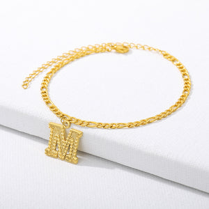 26 English alphabet anklets - topjewelry4u.com