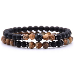 natural stone beaded bracelet - topjewelry4u.com