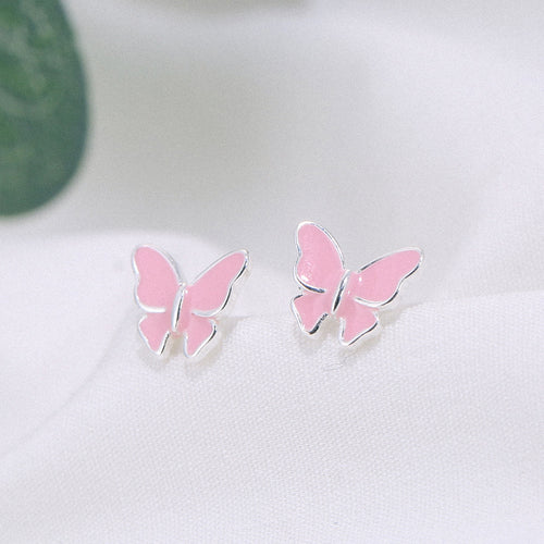 Sterling silvers literary cute butterfly earrings - topjewelry4u.com