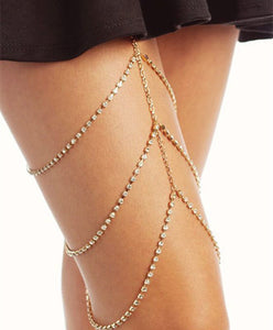 Body chain full of multi-layered leg chains - topjewelry4u.com