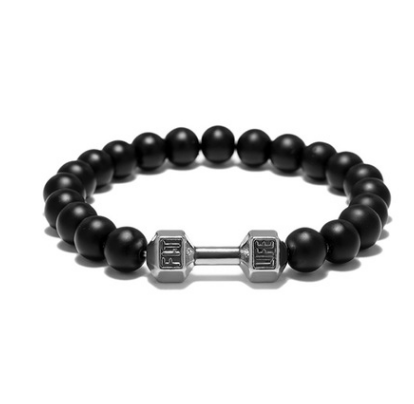 FIT LIFT Metal Dumbbell Beads Bracelet Jewelry - topjewelry4u.com