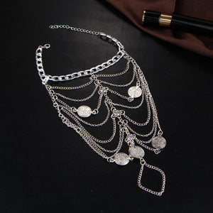 Fashion Silver Chain Barefoot Sandals Anklets Body Jewelry - topjewelry4u.com