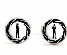 Load image into Gallery viewer, Inlaid time gemstone wedding cufflinks - topjewelry4u.com