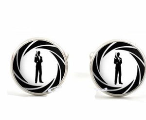 Inlaid time gemstone wedding cufflinks - topjewelry4u.com