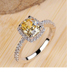 Load image into Gallery viewer, Square zircon ring - topjewelry4u.com