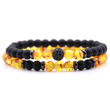 Load image into Gallery viewer, natural stone beaded bracelet - topjewelry4u.com