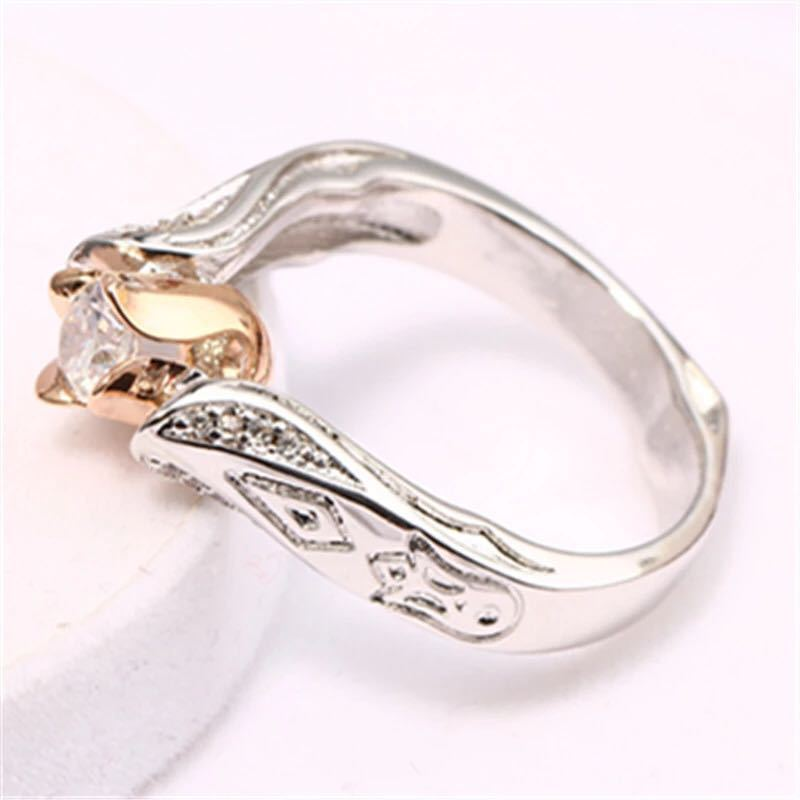 Flower Separation Simulation Diamond Ring - topjewelry4u.com