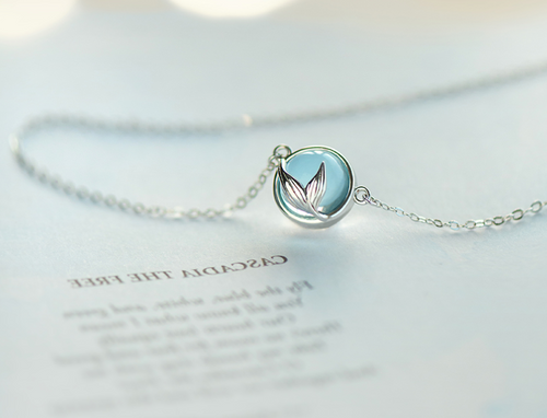 Mermaid bubble silver necklace female - topjewelry4u.com
