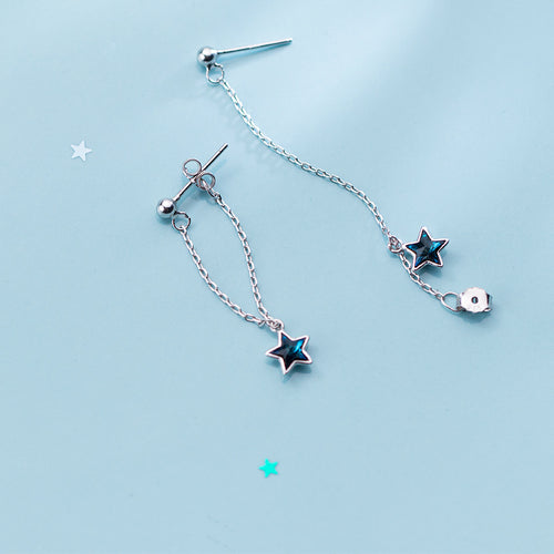 Blue diamond five-pointed star sweet - topjewelry4u.com