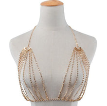 Load image into Gallery viewer, Fashion sexy creative chest chain hyperbole full of multilayered body chain chest - topjewelry4u.com