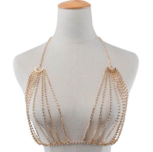 Fashion sexy creative chest chain hyperbole full of multilayered body chain chest - topjewelry4u.com