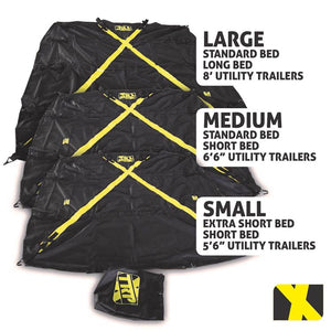 SMALL X-Cover | Truck Bed Cargo Cover - Fits Extra Short Bed, Short Bed, and Utility trailers up to 5'6""