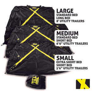 LARGE X-Cover | Truck Bed Cargo Cover - Fits Standard Bed, Long Bed, and Utility trailers up to 8' long