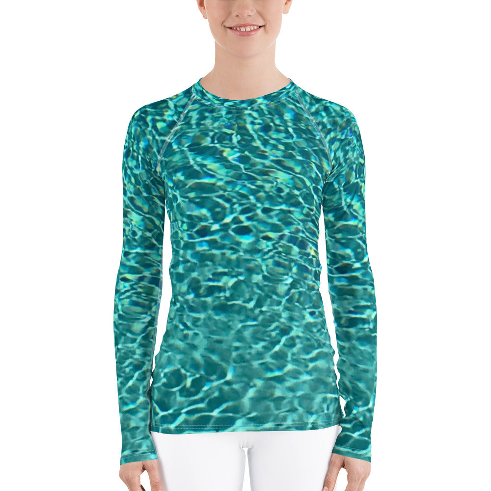 Swimming Pool Women's Rash Guard