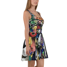 Load image into Gallery viewer, Color Roll Skater Dress