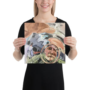 Glass Bottom Canvas print