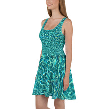 Load image into Gallery viewer, Swimming Pool Skater Dress