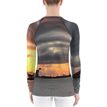 Load image into Gallery viewer, Jurassic Sunset Women's Rash Guard