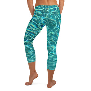 Swimming Pool Capri Leggings