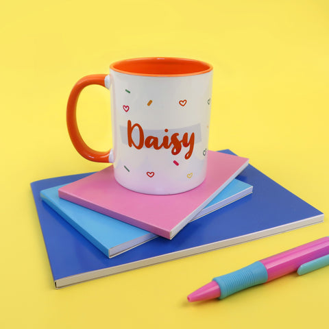Personalised Coloured Insert Mugs