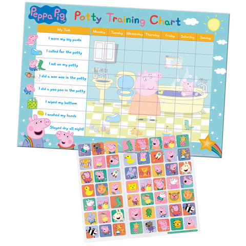 Peppa Pig Potty Training Reward Chart