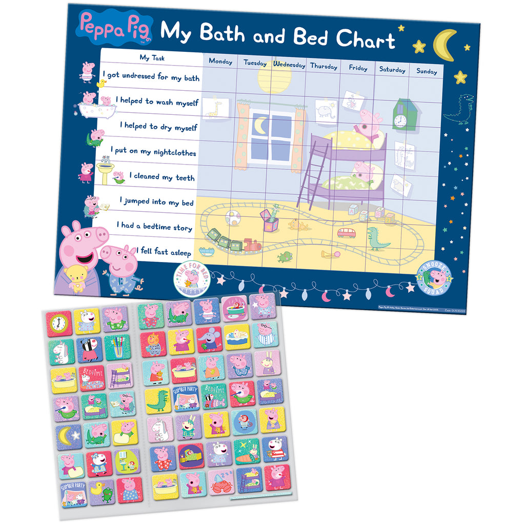 Peppa Pig Bath and Bedtime Reward Chart