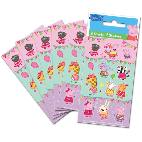 Peppa Pig Carnival Party Sticker Pack