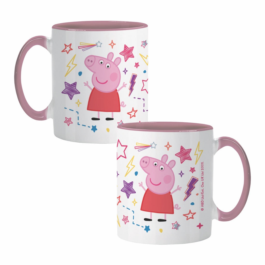 Stars Coloured Insert Mug