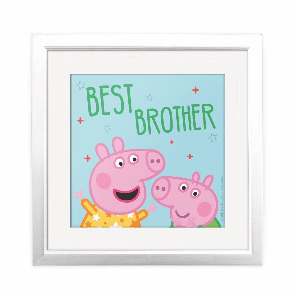Best Brother Square Art Print