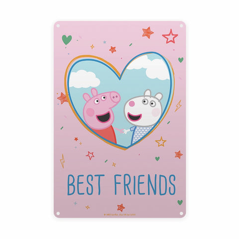 Best Friends Metal Sign