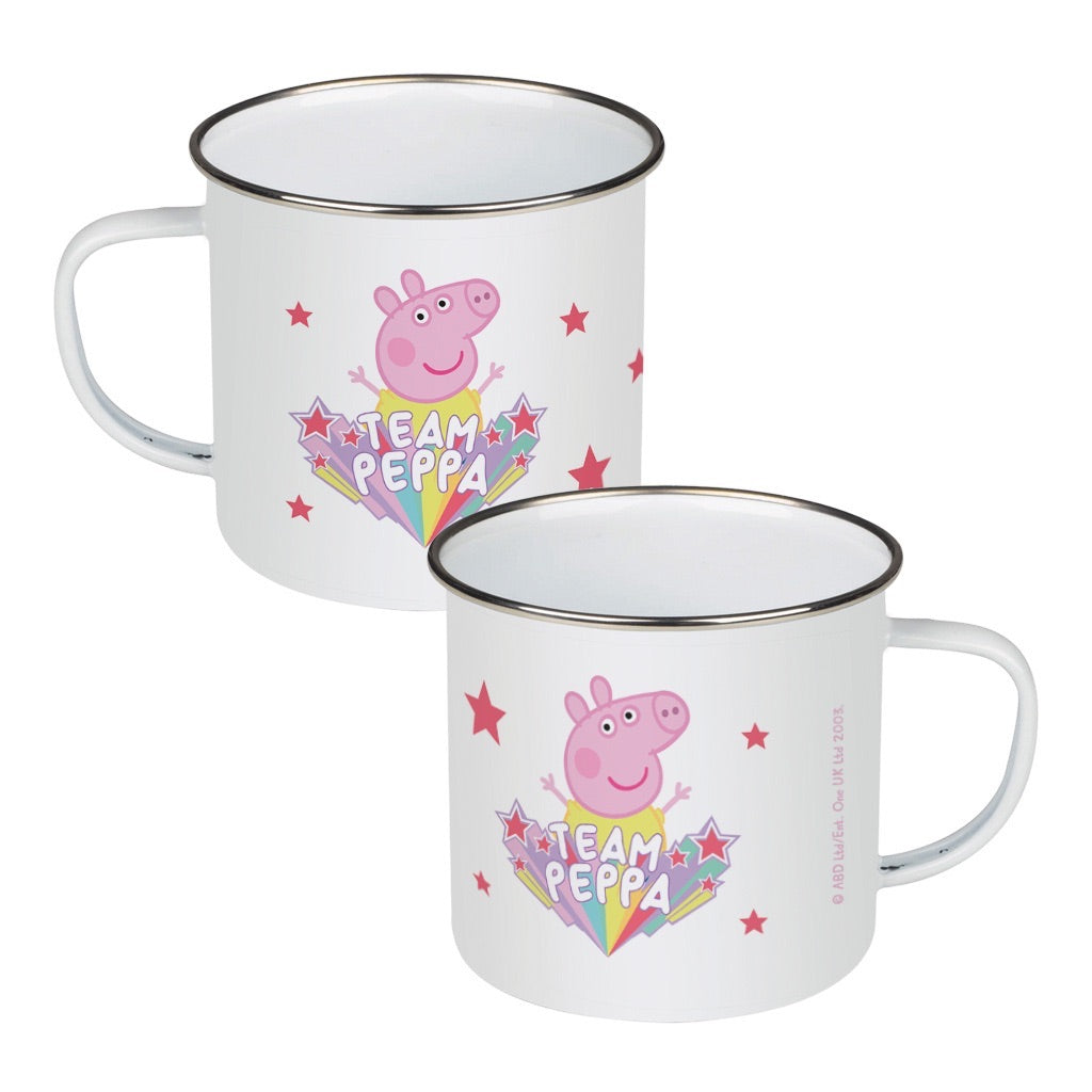 Team Peppa Enamel Mug