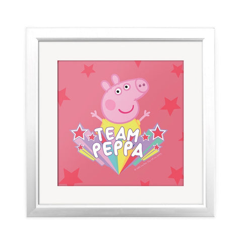 Team Peppa Square Art Print Square Art Print