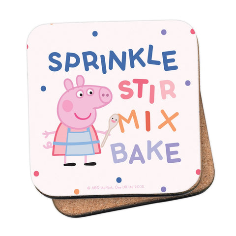Sprinkle Stir Mix Bake Coaster