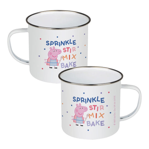 Sprinkle Stir Mix Bake Enamel Mug