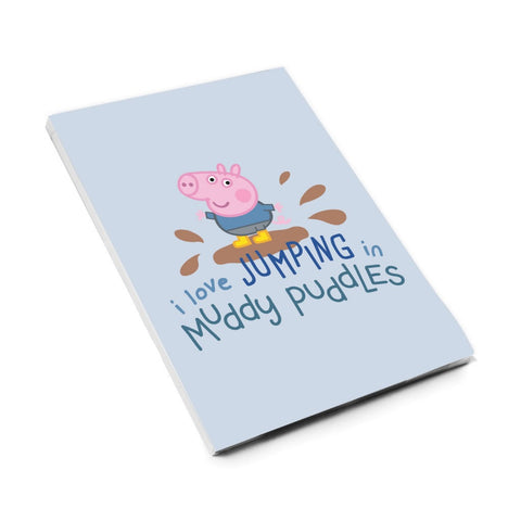 George Muddy Puddles A6 Magnetic Notepad