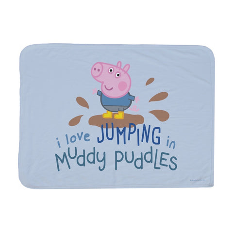 George Muddy Puddles Baby Blanket