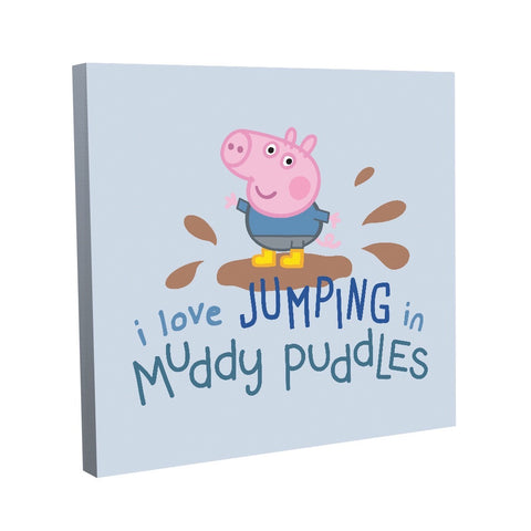 George Muddy Puddles Canvas (40x40cm)