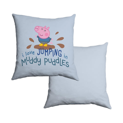 George Muddy Puddles Cotton Cushion