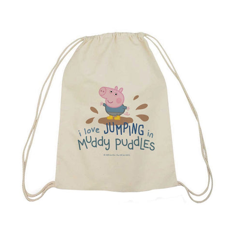 George Muddy Puddles Drawstring Bag