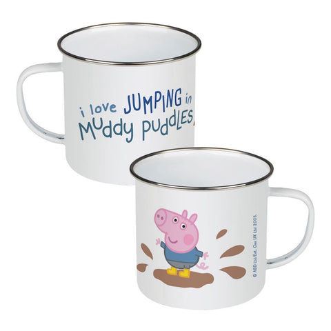 George Muddy Puddles Enamel Mug